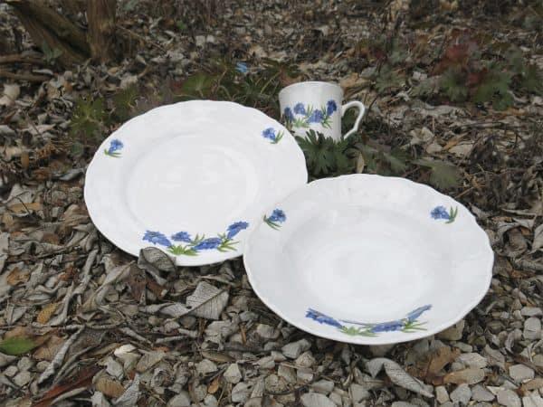 Enzian Essteller und Suppenteller Ofelie, Becher Anna
